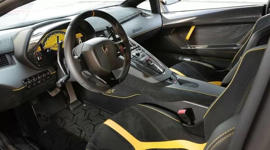Lamborghini Aventador Coupe Interior