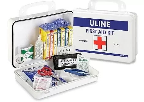 Accidents are unfortunate that is why first aid kit is compulsory