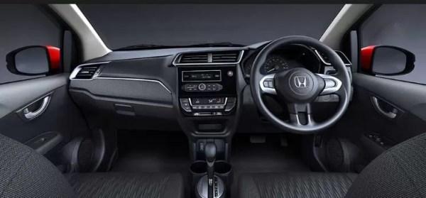 Interior of Honda Brio Front Cabin