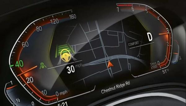 2020 BMW 5 Series information cluster