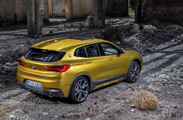 BMW 2 Series X2 SUV Side and Rear View 1