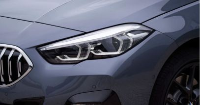 BMW 2 Series Gran Coupe 1st Generation front headlamps close view