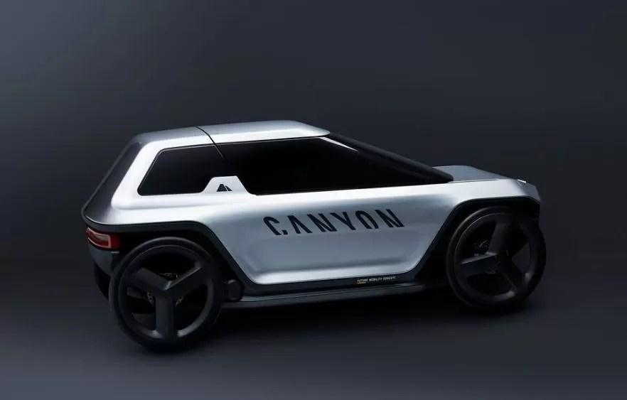 Canyon Capsule Revolutionary e bike car concept