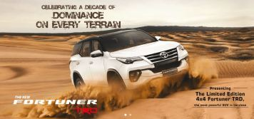 Toyota Fortuner TRD celebrity edition title image india