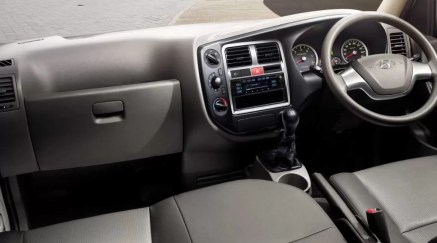 4th Generation Hyundai Porter H 100 Pickup Truck front cabin interior view