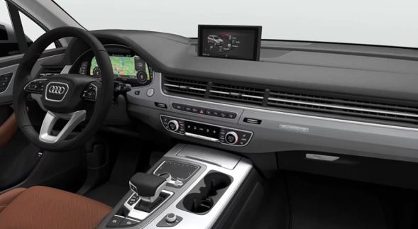 2nd Generation audi Q7 SUV front cabin interior view