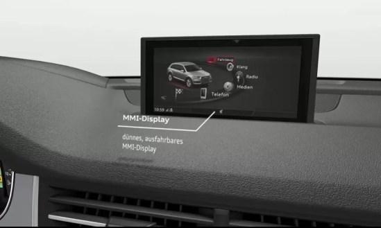 2nd Generation audi Q7 SUV infotainment screen view