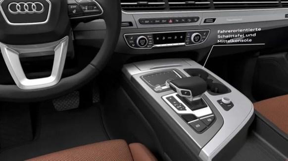 2nd Generation audi Q7 SUV transmission and controls