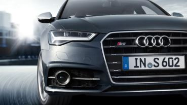 4th generation Audi A6 S6 sedan front grille close view