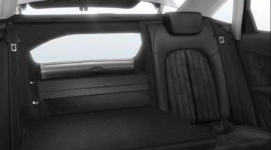 4th generation Audi A6 S6 sedan rear seat folded