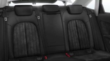 4th generation Audi A6 S6 sedan rear seats view