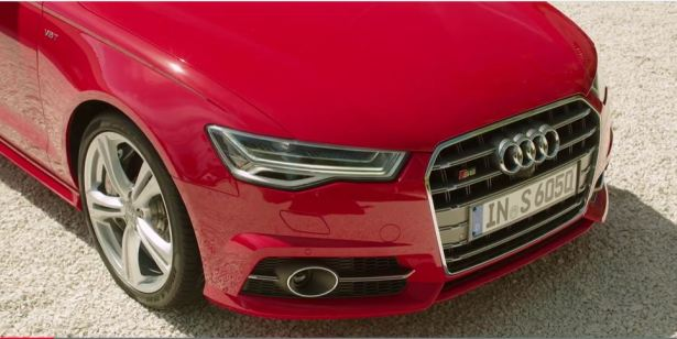 4th generation Audi A6 S6 sedan red front close view