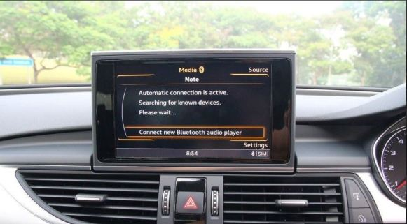 4th generation audi a6 s6 saloon infotainment screen view
