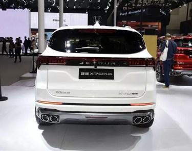 2nd Generation Jetour X70 Plus full rear view