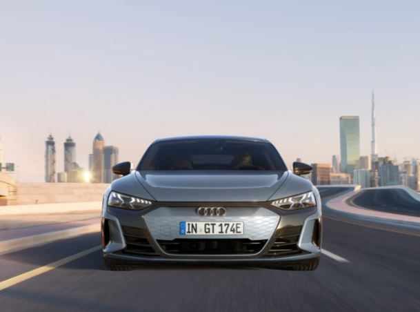 1st generation Audi E tron GT All Electric Sedan full front view