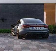 1st generation Audi E tron GT All Electric Sedan full rear view