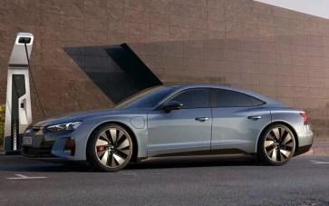 1st generation Audi E tron GT All Electric Sedan full side view