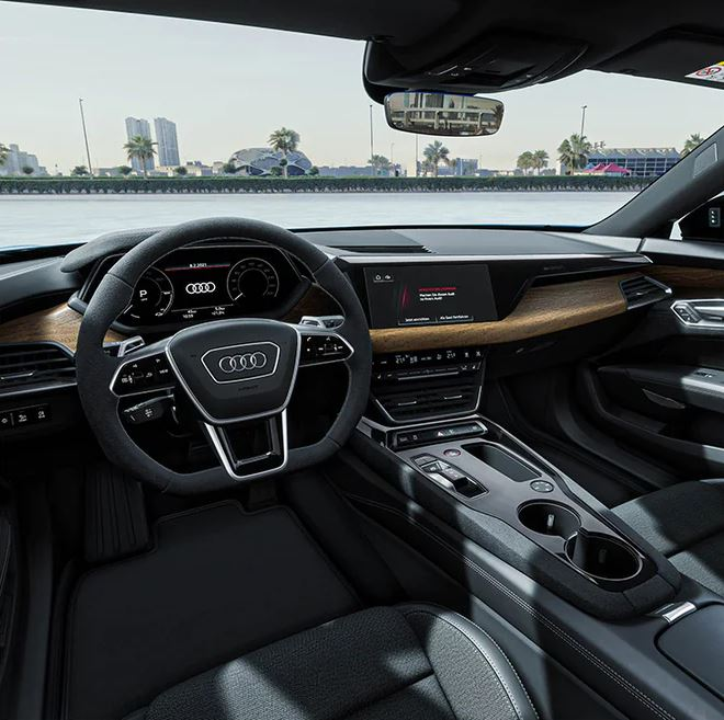 1st generation Audi E tron GT All Electric Sedan steering wheel and other features