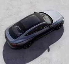 1st generation Audi E tron GT All Electric Sedan upside view