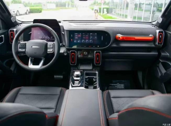 1st generation Haval Big Dog SUV front cabin interior view