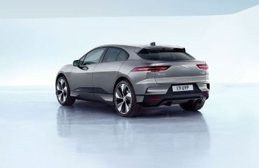 1st generation Jaguar i pace all Electric SUV wheels and rear view