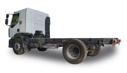 Renault D 280 Commercial Medium Truck bed less rear view
