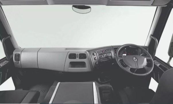 Renault D 280 Commercial Medium Truck front cabin interior view