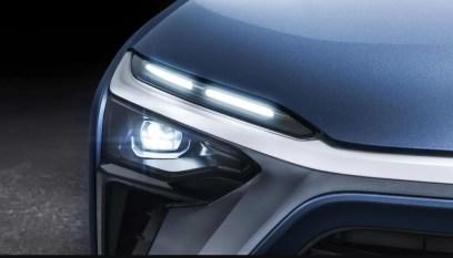 1st generation Nio ES8 electric SUV front headlamps