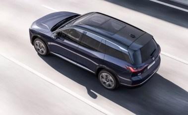 1st generation Nio ES8 electric SUV upside view