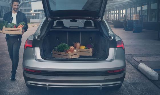 1st generation audi e tron sportback fully electric boot space view