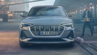 1st generation audi e tron sportback fully electric full front view