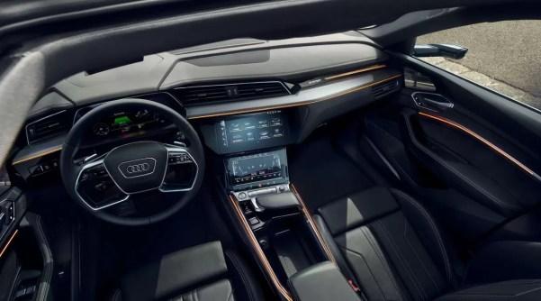 1st generation audi e tron sportback fully electric futuristic interior cabin and features