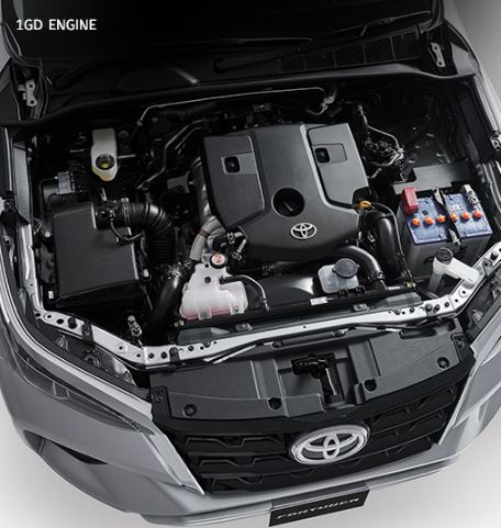 2nd generation facelifted toyota fortuner suv engine view