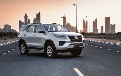 2nd generation facelifted toyota fortuner suv full view