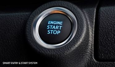 2nd generation facelifted toyota fortuner suv stop start engine button