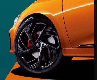 3rd generation mg6 pro sedan black wheels view