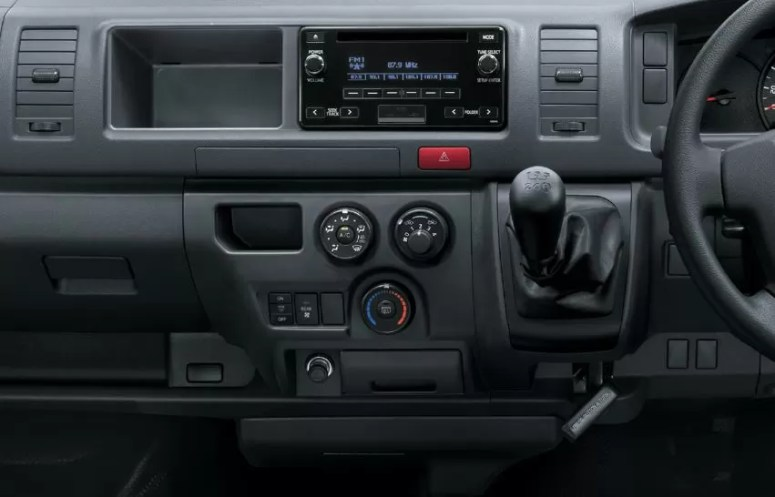 6th generation Toyota hiace van transmission and other controls view