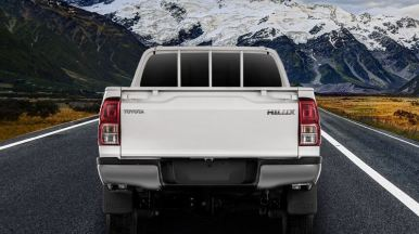 8th generation Toyota hilux E pickup truck full rear view
