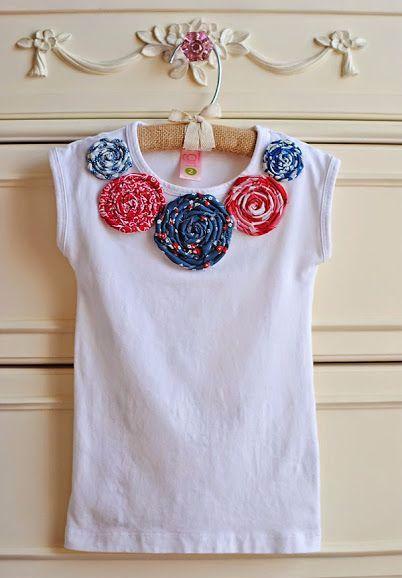e9a49f94ae80 Krásnym nápadom je ozdobiť tričko s jasnými farbami z látky. Pre deti práve  tak