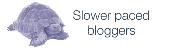 Slower paced bloggers