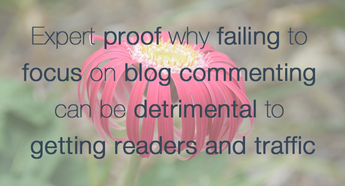 Expert proof failing to focus on blog commenting is detrimental