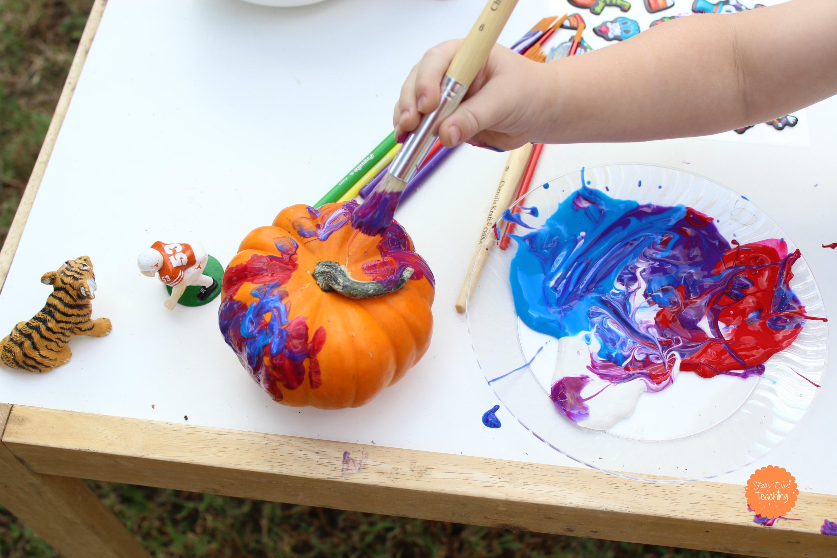 Toddler Tales  Pumpkin Painting  Fairy Dust Teaching
