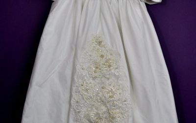 A Lacey Christening Gown