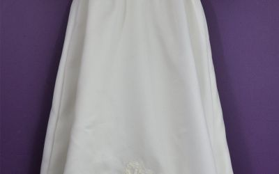 Older Wedding Dress Made Into Christening Gown