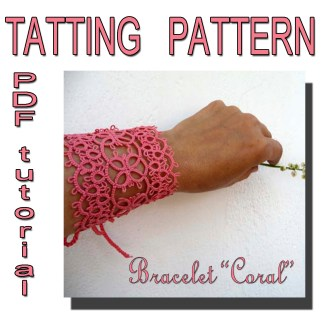 Bracelet Coral tatting pattern