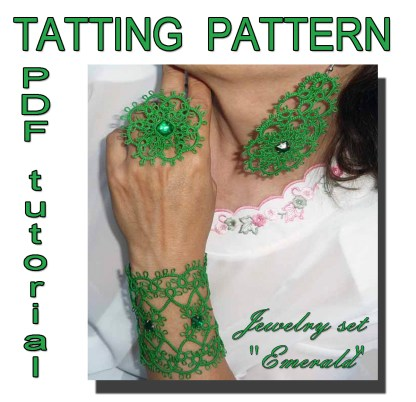Emerald jewelry set pattern