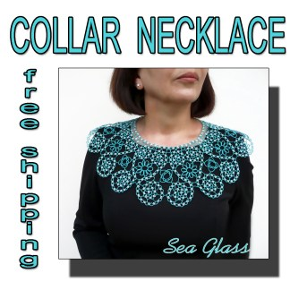 Lace collar Sea Glass