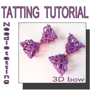 Tatting pattern 3D bow