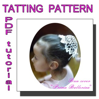Tatting pattern bun cover