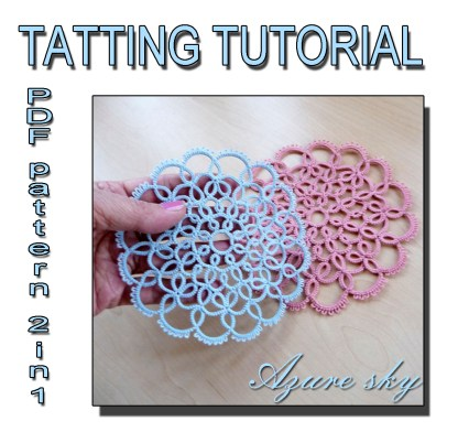 Doily Azure sky tatting pattern